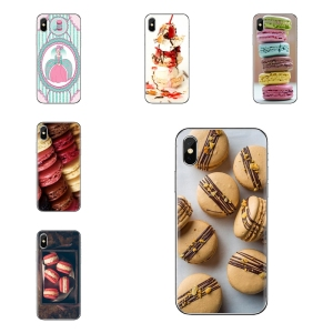 TPU Bag Case For Xiaomi Mi3 Samsung A10 A30 A40 A50 A60 A70 Galaxy S2 Note 2 Grand Core Prime dessert ice cream laduree Macarons