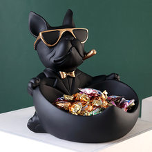 Cool dog Figurine dog statue storage box home decoration ornamental Crafts art sculpture figurines home decor gift decorative