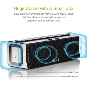 Image 4 - EWA D560 Bluetooth Premium Stereo,20W Drivers and Two Passive Subwoofers, HIFI HD Sound Enhanced Bass with Mic Support TF AUX