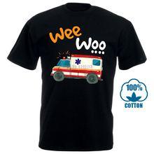 Футболка wee woo для мальчиков с изображением скорой помощи