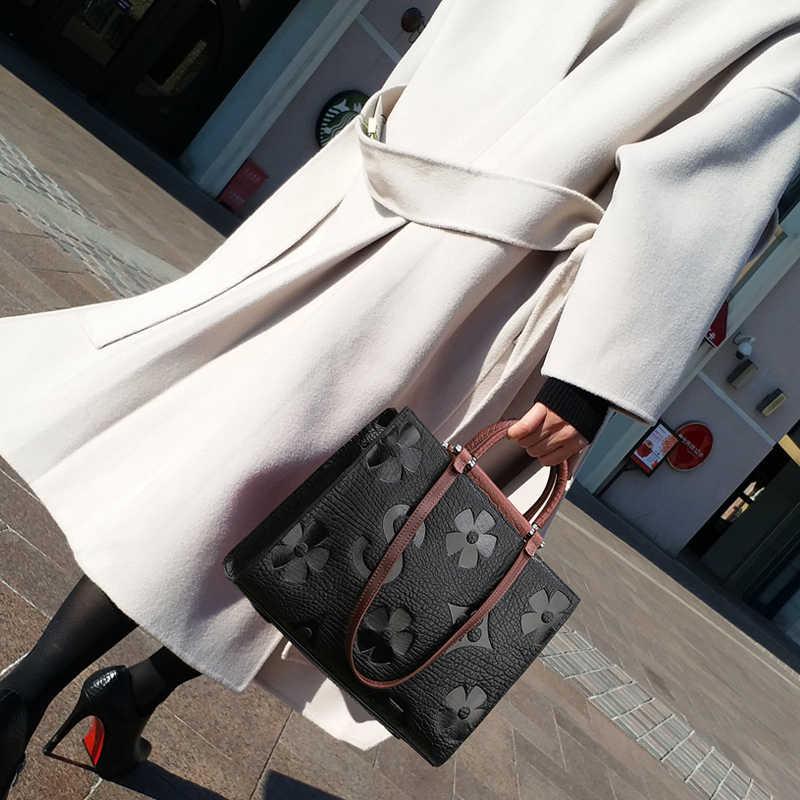 Luksusowe rocznika kobiet torebki projektant torby na ramię Crossbody panie prawdziwej skóry o dużej pojemności pakiet Louis marki