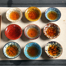 1 PCS 55ml Ceramic Master Colorful Single Cup Tea Bowl Kung Fu Set Cups Bubble Home High-End Gifts