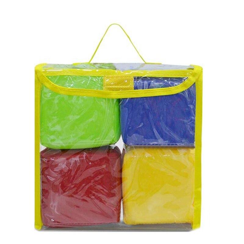 Educação diy jogando dados, quadrados de bolso, blocos de empilhamento de espuma de bolso foto-conjunto de 4