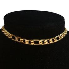 Ожерелье чокер в стиле панк рок женское цепь из кубинской цепи