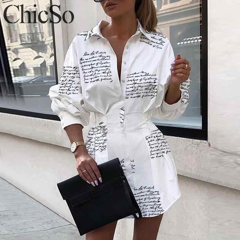Missychilli manga longa carta impressão vestido curto feminino elegante camisa da senhora do vintage vestido branco outono inverno sexy vestido de natal