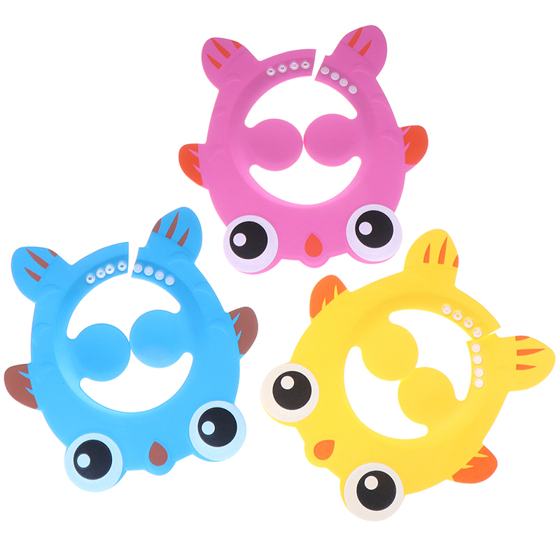 Shampoo Bathing Cap Adjustable Frogs Baby Shower Hat Toddler Kids Wash Hair Shield Protect Ears Eyes Visor Caps for Baby Care