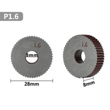 hss wheel lathe knurling tools for metal lathe 2pcs 1.6mm set