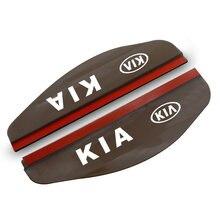 1 пара автомобильных силиконовых накладок rain brow для kia
