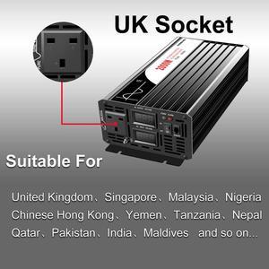 Image 3 - Onduleur pour installation solaire à onde sinusoïdale pure 5000W, 12 24 48V DC vers 110 220V AC, avec télécommande et affichage numérique