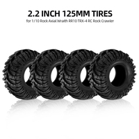 High Quality 4Pcs 2.2 Inch 125mm 1/10 RC Rock Crawler Tires for 1:10 Rock Axial Wraith RR10 RC Rock Crawler Jeep Truck