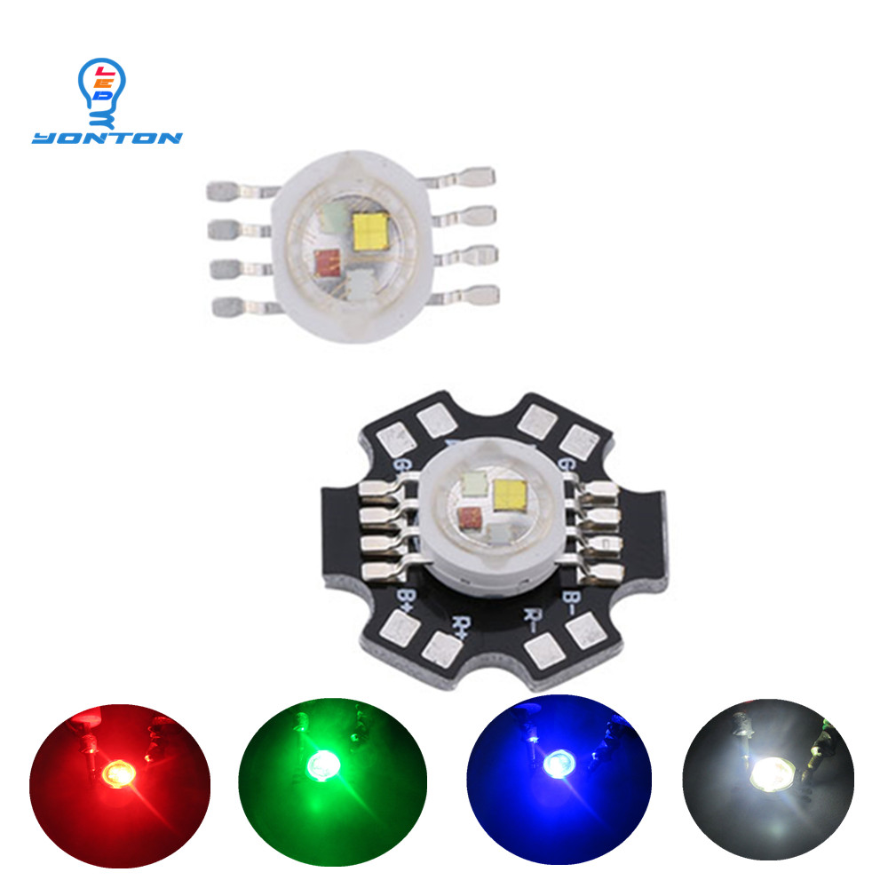 50pcs/lot 12W RGBW  high power led Chip 8 Pins for Stage Lighting-in Light Beads from Lights & Lighting