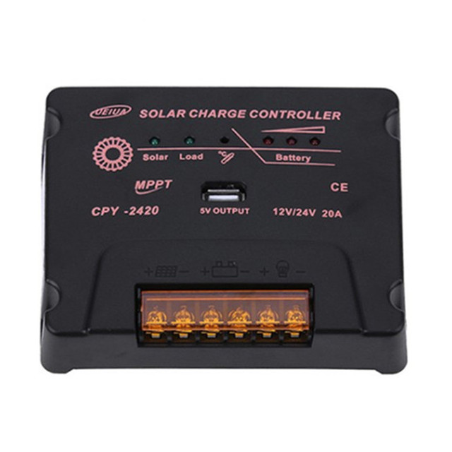 BOGUANG Solar Charge Controller MPPT 12V/24V 10A 20A Solar Panel Battery Regulator Wholesales