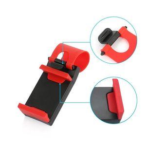 Image 5 - ABS + elastyczna guma samochodów KIEROWNICA uchwyt na telefon komórkowy uniwersalny uchwyt na podstawka pod telefon samochodowy uchwyt do nawigacji wsparcie smartfon voiture