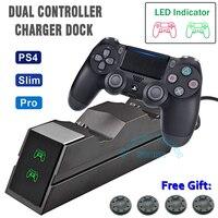 Wireless Controller Schnelle Ladegerät Stehen für Playstation 4 PS4/SCHLANK/PRO Dualshock PS 4 PRO Spiel Pad Joystick lade Dock Station
