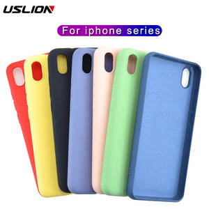 USLION Luxury Thin Soft Silicone Case For iphone 7 8 6S 6 Plus X XS 11 Pro MAX XR Case