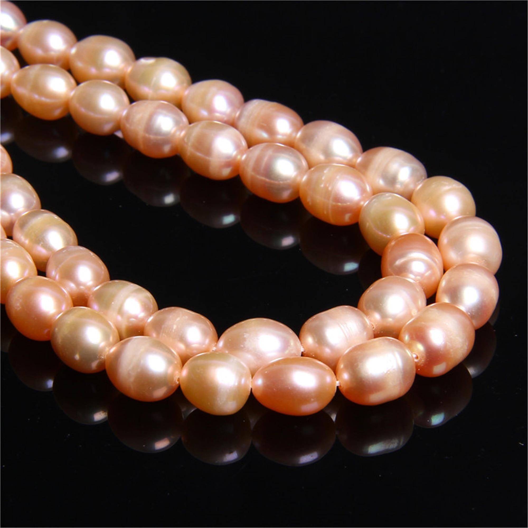 """15/"""" Strand naturelles d/'eau douce perles rondes//pomme de terre violet 5-9 mm AA"""