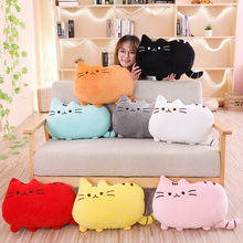 25 50 см милые плюшевые черная кошка чучело игрушки подушки