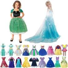 Vestido de Elsa y Anna para niña, disfraces de Woody, vampiro, ceniza, ropa para niña, unicornio, Tianan, Bella, vestido de princesa árabe, 2021