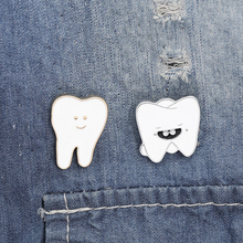 New Cartoon Teeth Enamel Brooch Medical Organ Expressions Alloy Badge Denim Shirt Bag Pin Jewelry Accessories Gifts For Friends creative personality gestures alloy brooch enamel pin mini badge bag clothes jewelry gifts to friends fxm