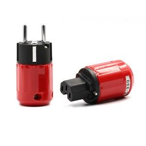 Image 2 - คู่เสียงเกรดโรเดียมชุบEU SCHUKO AC Power Plug + IECปลั๊กDIYสายไฟ