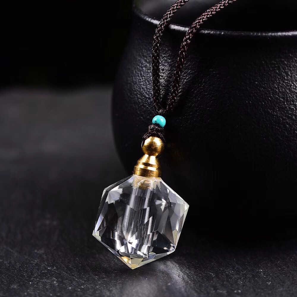 香りリードディフューザー天然水晶ホーム香水瓶ペンダントネックレス女性オイル香り雑貨 Difusor アロマギフト誕生日
