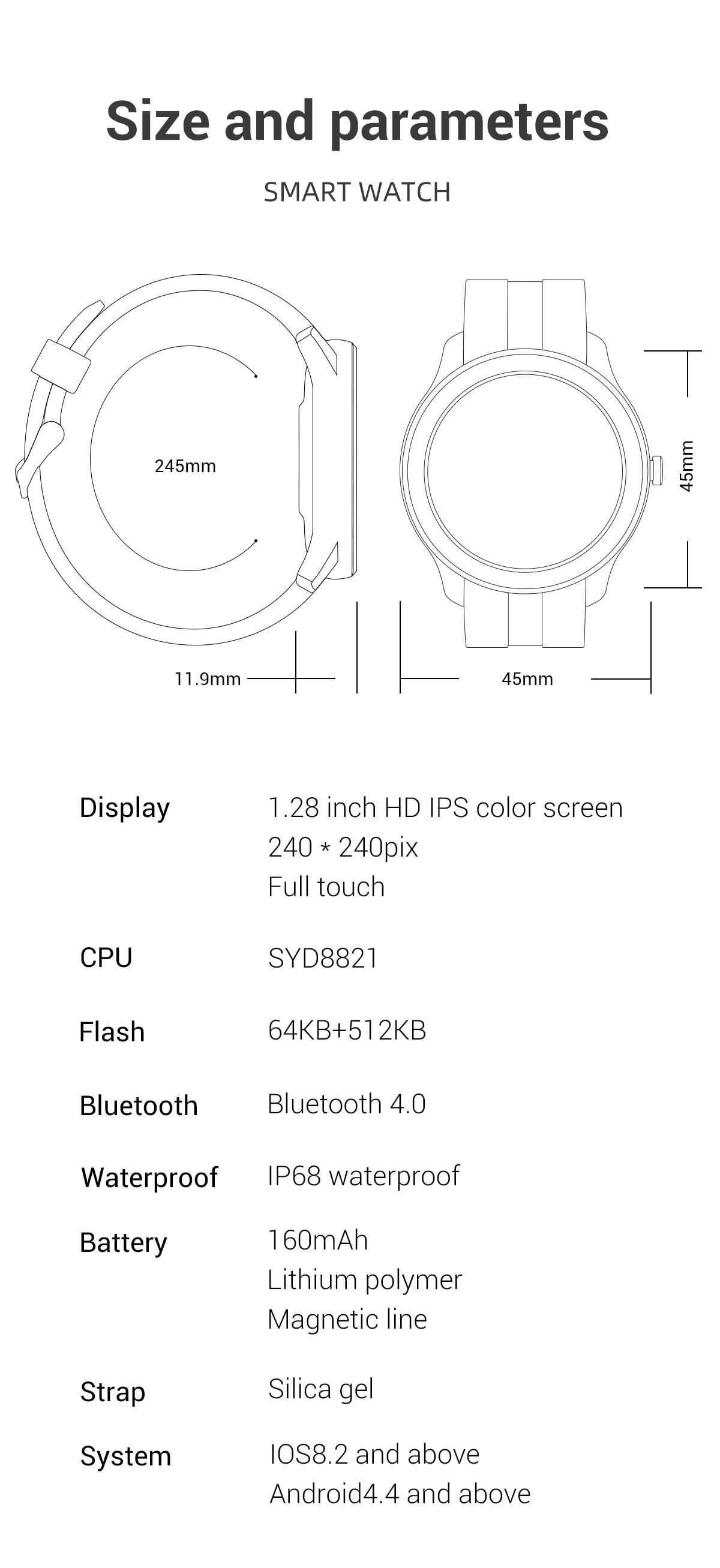 H634228cfc18a4019869f43f8e1fc4662E LEMFO Full Touch Screen Smart Watch Waterproof Smartwatch Men
