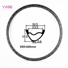 YASE 29er Углеродные mtb дисковые Ободы с бантом внешний вид 30,5x19,5 мм Асимметричные бескамерные велосипедные колеса Углеродные Диски mtb диски