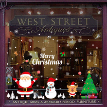 Removable Decorative Christmas Wall Stickers Glass Window Sticker Merry Home Bedroom 2020 New Year Gifts XMAS