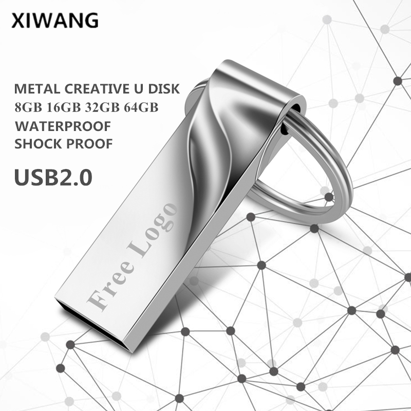 Creative Usb Flash Drive 128GB 64GB Metal Key Pendrive 32GB Pen Drive 16GB 8GB Usb Stick 2.0 Flash Memory Stick Free Custom LOGO
