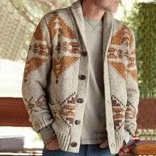 E baihui повседневные пальто мужской свитер Кардиган с длинным