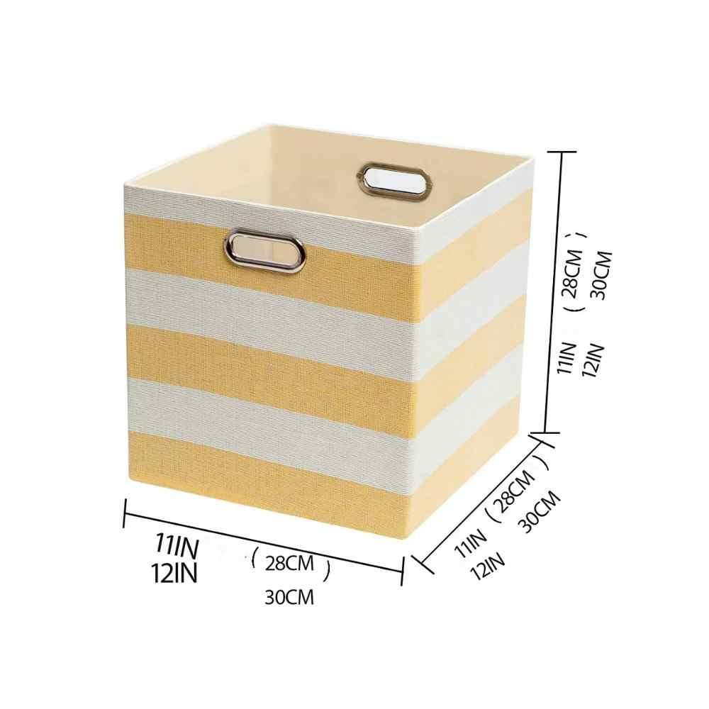 Nieuwe Kubus Vouwen Opbergdoos Kleding Opslag Bins Voor Speelgoed Organisatoren Manden Voor Nursery Kantoor Kast Plank Container 2 Size