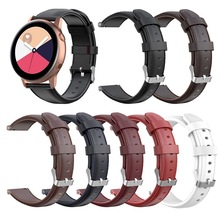 For Samsung Galaxy Watch Active2 Samsung Gear Sport Samsung S2 Classic High-grade Leather Straps samsung gear s2 sport silver