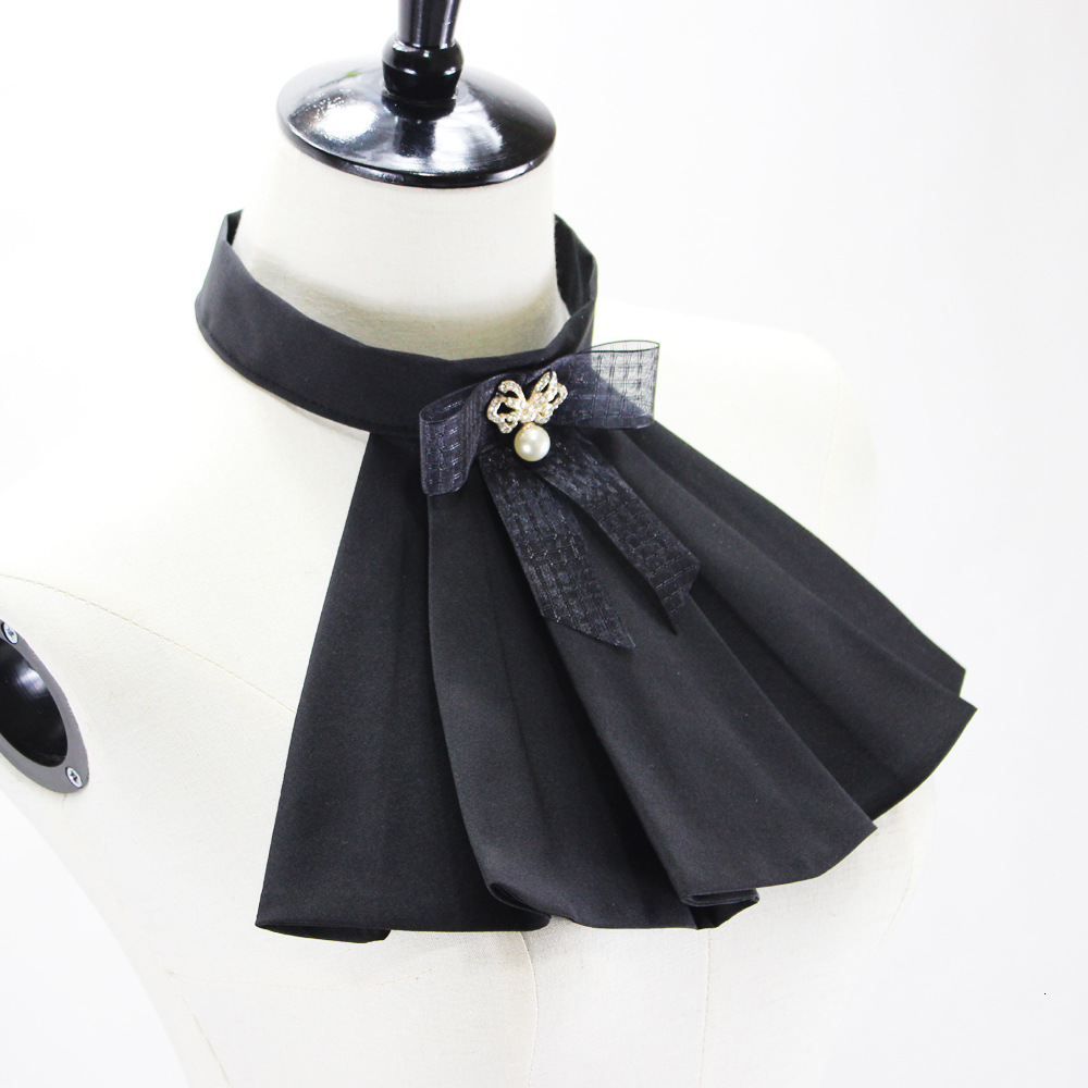 Court Lolita Bow Dickie Shirt Decoration Lead Stand  Fake Collar Detachable Necklace