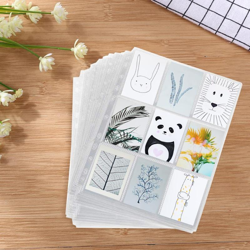 1 Sheet Plastic Game Cards Collection Pages Excellent And Durability Plastic Cement Craft Gathering Insert Card Holder