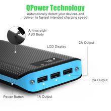 portable charger 10000mAh battery bank  cell phone backup battery  5V/2.1A  Li-polymer Battery Three USB charging ports j 007 4000mah 5v li polymer battery power bank w usb cable for iphone more black