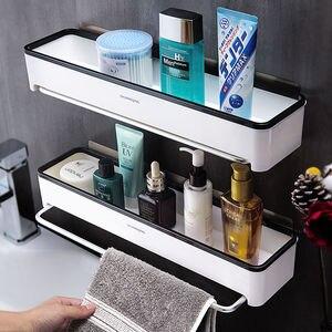 Image 2 - Punch livre organizador do banheiro prateleira cosméticos shampoo rack de armazenamento de banho toalha de cozinha titular artigos do agregado familiar acessórios do banheiro