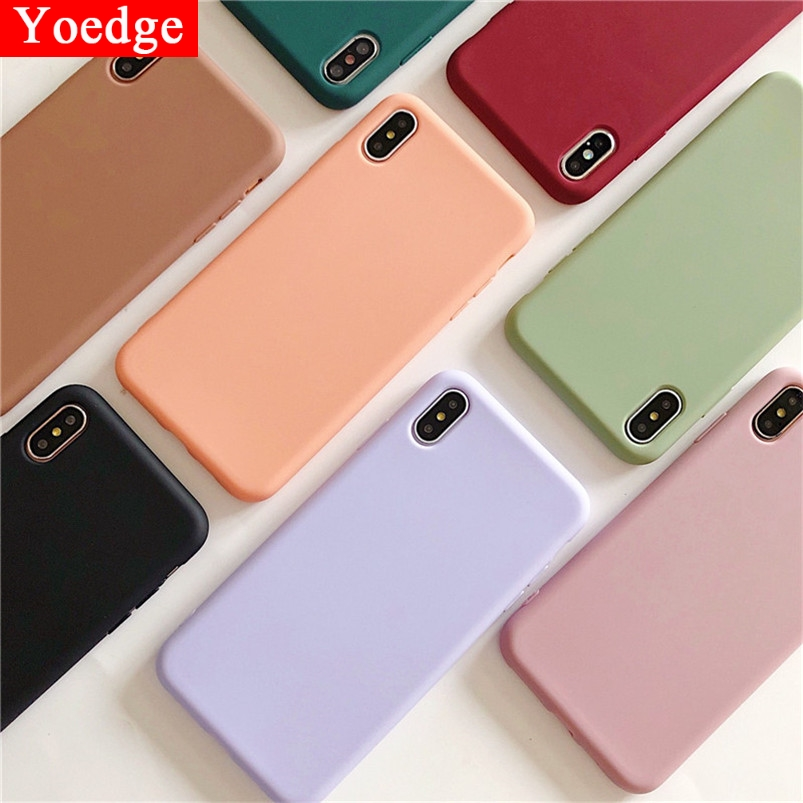 Candy Color Silicone Case For <font><b>Samsung</b></font> Galaxy S10 S8 S9 Plus S10E J3 J7 <font><b>2016</b></font> J5 A5 2017 J4 J6 A6 Plus A7 <font><b>A9</b></font> 2018 Note 8 9 Fundas image