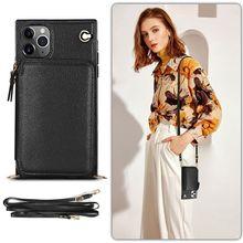 עור צלב גוף טלפון תיק מקרה עבור Iphone 12 מיני 11 פרו מקסימום X Xs Xr 8 7 בתוספת 6 6s SE 2020 עם ארוך רצועת ארנק כרטיס מחזיק