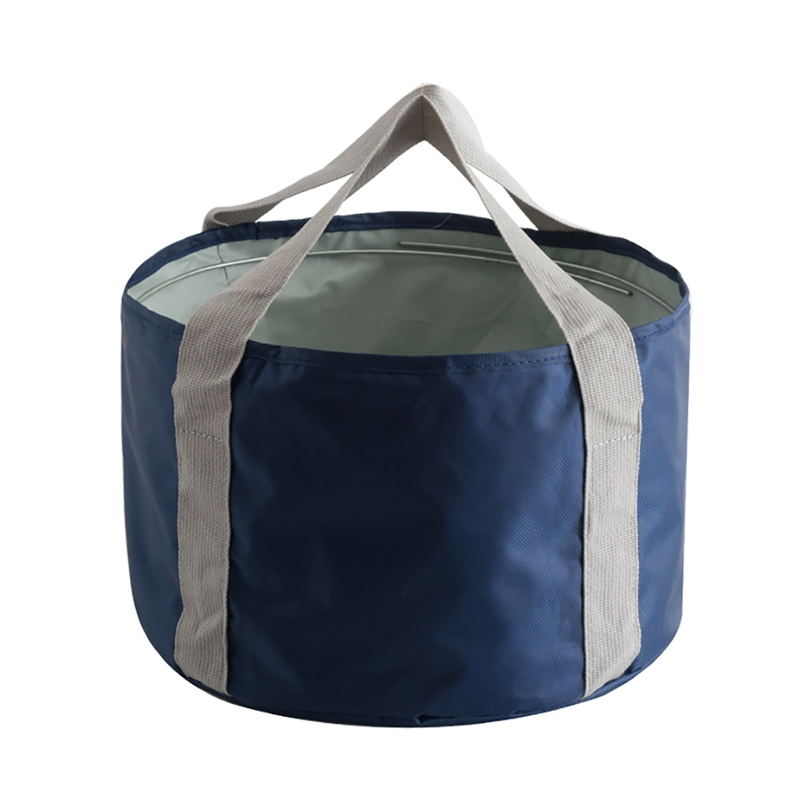 Outdoor Travel Camping Fishing Backpack Portable Foldable Washbasin Bag Field Travel Foot Basin Bucket Water Storage Container