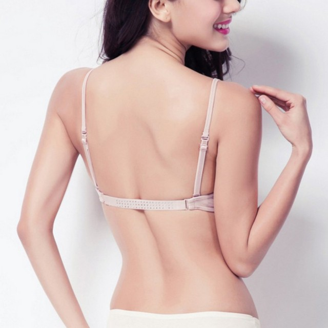 Sexy Satin invisible soutien-gorge plongeant femmes profond U dos nu soutien-gorge sans couture soutien-gorge sous-vêtements