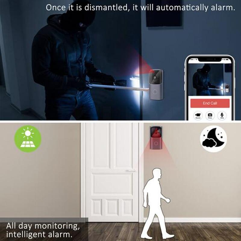 ßUltimate DealDoorbell WIFI Camera Video-Intercom Android Smart Home Wireless Monitor Battery-Poweredß
