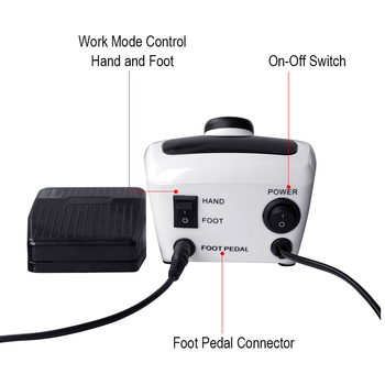 35000/20000 RPM Pro Electric Nail Drill Machine Apparatus for Manicure Pedicure with Cutter Nail Drill Art Machine Kit Nail tool 4
