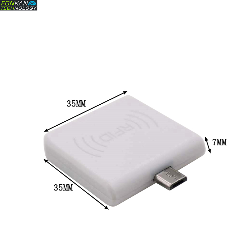 <font><b>ISO14443A</b></font> HF <font><b>13.56MHz</b></font> samrt IC Card Reader for Android Mobile Phone USB OTG Power Supply Mini Ultra-small Portable RFID Reader image