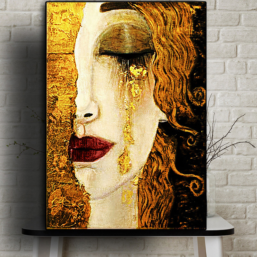 Streszczenie Gustav Klimt łza obraz olejny druk na płótnie słynne plakaty i druki obraz ścienny do salonu wystrój domu