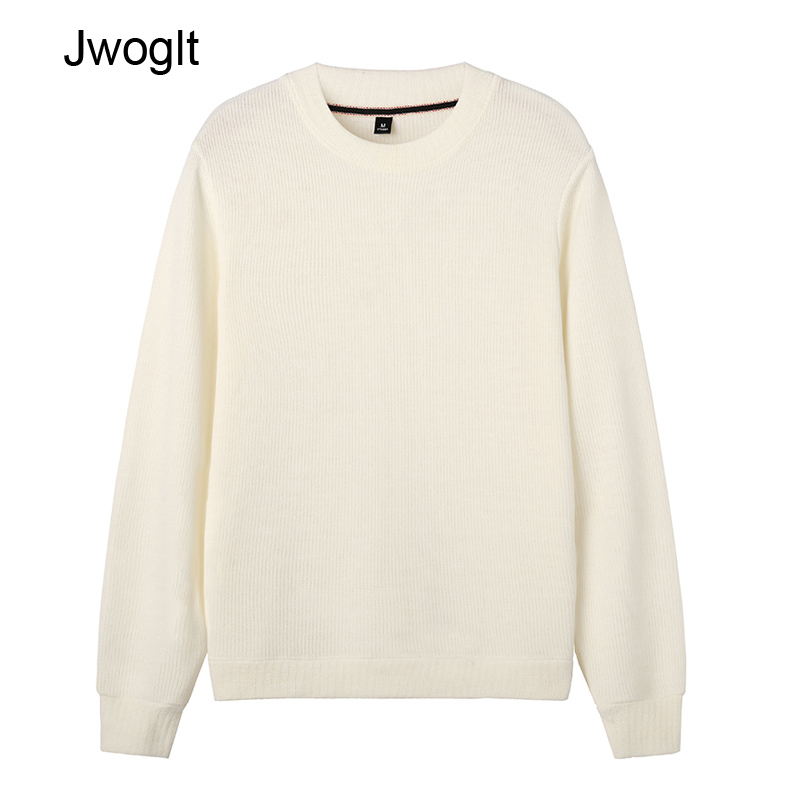 Autumn Winter New Knitted Sweaters Casual Christmas Sweater Men Solid Harajuku Pullover Men White Khaki Green Jumper