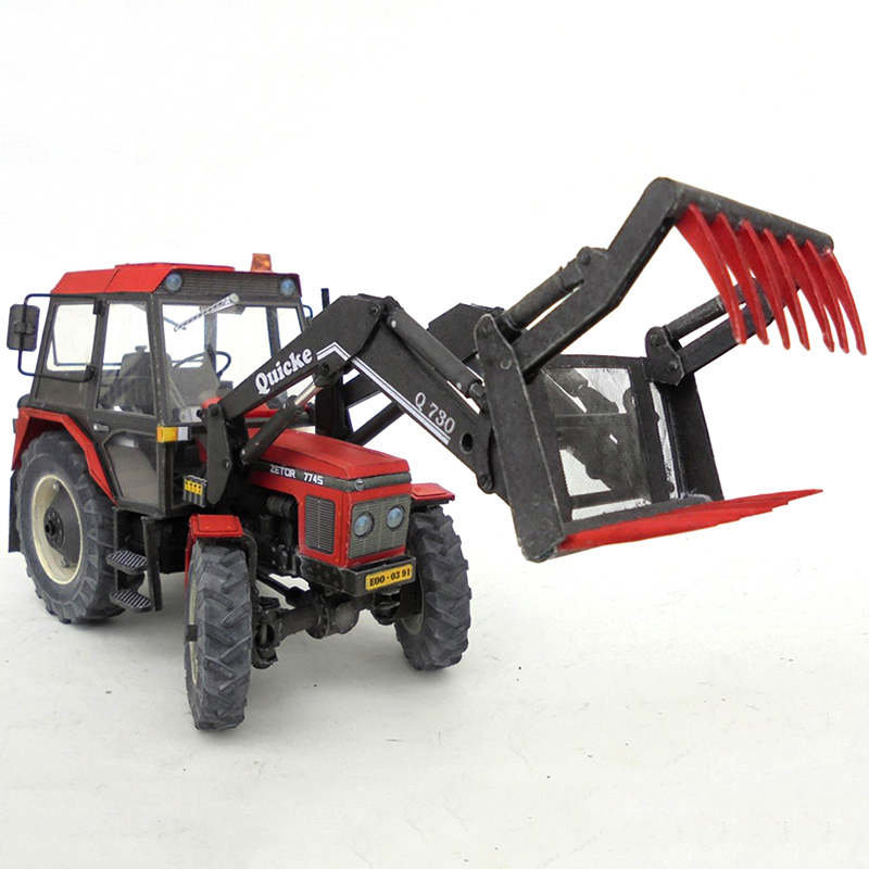 Zetor 7745 1:32 Tractor,4 Tools To Choose From,Folding Cutting 3D Paper Model Papercraft DIY Adult Handmade Craft Toys ZX-022 23