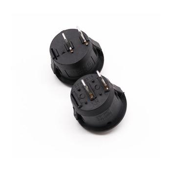 Interruptores basculantes de barco redondos y pequeños, interruptor de encendido y apagado, negro, blanco, rojo, 2 pines, 16mm de diámetro, 10 Uds. 2