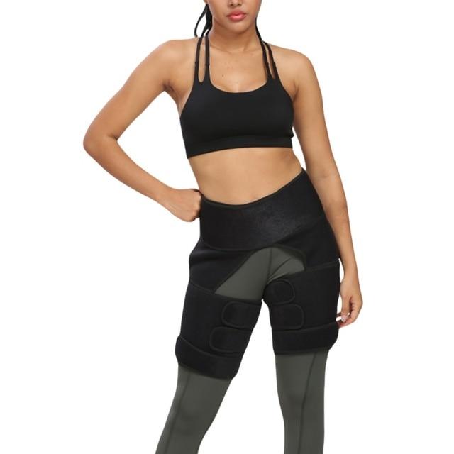 Protection belt WAIST SECRET Slim Thigh Trimmer Leg Shapers Slender Slimming Belt  Sweat Shapewear Toned Muscles Band Thigh Slim 4