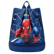 Original Disney Swimming Bag Children Wet And Dry Separation Portable Waterproof Storage Travel Beach Spider Man Frozen Captain