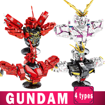 Gundam Blocks Series Toys Building Blocks Bricks Kits DIY Model Kids Children Toy Anime Unicorn Zagu 2020pcs alien building blocks diy bricks toy